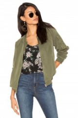 SANCTUARY GREEN PILOT BOMBER in CADET. Casual collarless jackets