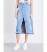 STEVE J & YONI P Asymmetric high-rise denim skirt