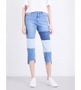 STEVE J & YONI P Stepped-hem cropped high-rise jeans