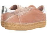 Steven – Pace blush velvet espadrille sneaker. Luxury style sneakers | sports luxe | casual flats | flat shoes | pink lace up espadrilles