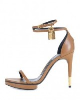 TOM FORD Platform Ankle-Lock 105mm Sandal in Brown Leather ~ barely there sandals ~ strappy high heels ~ designer shoes