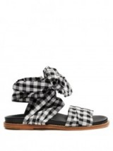MARQUES'ALMEIDA Wraparound gingham sandals