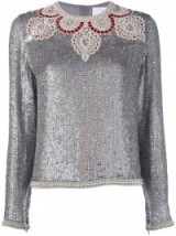 ASHISH bead embellished sequin top ~ silver sequined tops ~ beautiful fashion