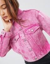 ASOS Denim Jacket in Washed Pink
