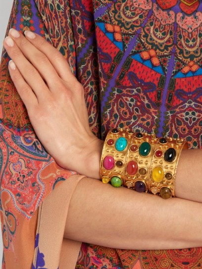 Byzance large gold-plated cuff