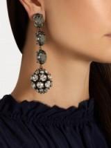 crystal sphere-shaped drop earrings