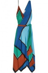DIANE VON FURSTENBERG Asymmetric printed silk maxi dress – as worn by Kylie Minogue on Instagram, May 2017. Celebrity dresses | star style fashion