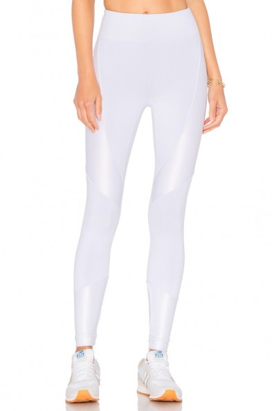 KORAL FORGE LEGGING. White stretch fit leggings | sports luxe | sportwear | skinny pants
