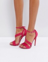 Lost Ink Pink Strappy Heeled Sandals