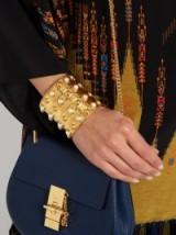 Massai large gold-plated cuff