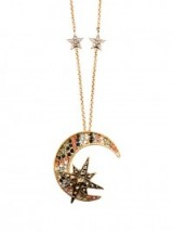 ROBERTO CAVALLI Moon and star embellished necklace