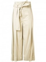 TOME cropped trousers. Beige cotton cropped pants