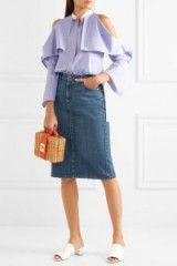 ALEXACHUNG Denim skirt
