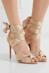 ALEXANDRE BIRMAN Katherine lace-up silk-satin and suede sandals