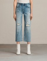 ALLSAINTS Mazzy cropped jeans mid indigo blu