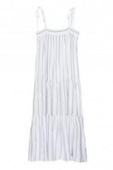 Vanessa Hudgens strappy sundress, Arielle Positano stripe dress by RAILS, leaving Granville Cafe in Studio City, Los Angeles, 17 June 2017. Celebrity dresses | star style summer fashion
