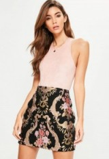 Missguided black jacquard mini skirt ~ luxe style printed skirts