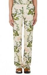 CALVIN KLEIN 205W39NYC Floral Silk-Wool Jacquard Trousers
