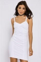 In The Style CIA WHITE DENIM BODYCON DRESS