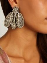 ROCHAS Crystal-bee clip-on earrings