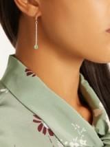 IRENE NEUWIRTH Diamond, emerald & rose-gold earring ~ single luxe earrings ~ fine jewellery
