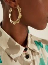SIMONE ROCHA Flower large gold-plated earrings
