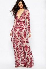 $199.00 FOR LOVE & LEMONS TEMECULA EMBROIDERED MAXI DRESS IN RED