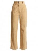 A.W.A.K.E. High-rise flared corduroy trousers