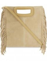 MAJE M suede cross-body bag