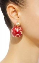 Silvia Furmanovich Marquetry Bird Ball Drop Earrings
