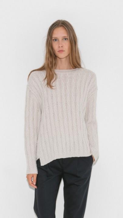 Nili Lotan Bailey Cashmere Cable Sweater
