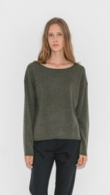 Nili Lotan Rylie Cashmere Sweater – chic army green sweaters