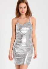 Noisy May NMLOLA silver strappy party dress