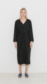 OZMA Mal Pais Dress – elegant black silk dresses