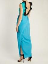 EMILIO DE LA MORENA Rouchelle ruffle-trimmed silk-blend gown ~ ruffled open-back gowns