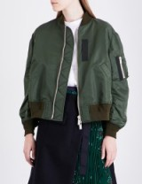 SACAI MA-1 satin jacket khaki