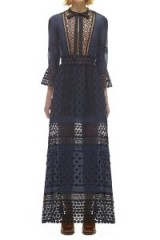 $318.00 SELF PORTRAIT SPRING LACE LONG SLEEVED PLEATED DRESS, SP10-076