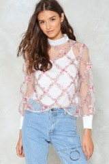 Nasty Gal A Rose by any Name Embroidered Top
