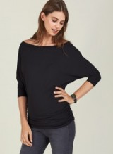 Isabella Oliver ABIGAIL MATERNITY TOP ~ ruched pregnancy tops ~ off the shoulder
