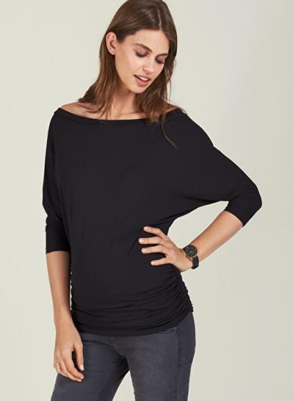 Isabella Oliver ABIGAIL MATERNITY TOP ~ ruched pregnancy tops ~ off the shoulder