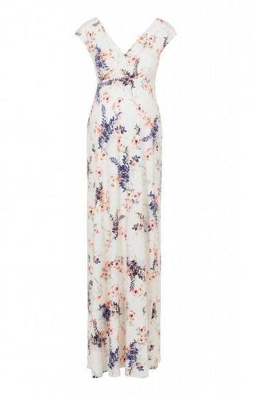 Tiffany Rose ALANA MAXI DRESS JAPANESE GARDEN ~ long maternity dresses ~ pregnancy fashion - flipped