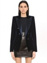 ALEXANDRE VAUTHIER TAILORED VELVET & SATIN JACKET