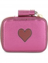 ANYA HINDMARCH Heart motif small leather keepsake box
