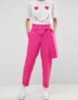 ASOS Trouser with Origami Waist and Tie Detail ~ pink trousers