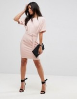 ASOS Ultimate Mini Pencil Dress with D-Ring Belt ~ blush-pink dresses