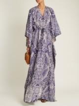 MARY KATRANTZOU Asso Cards-jacquard kaftan dress ~ chic printed kaftans