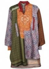 LOEWE Asymmetric logo-print silk shirt   long mix print shirts
