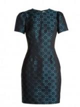 MARY KATRANTZOU Azurite Diamonds-jacqaurd mini dress