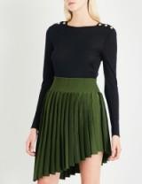 BALMAIN Button-detail wool and silk-blend jumper