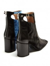 TOGA Bi-colour velvet ankle boots